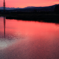 医王山夕霧峠から・犀川河口から見る剣・立山