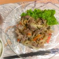 肉野菜炒めて、スタート!