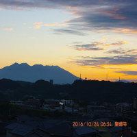 10月24日、朝の桜島