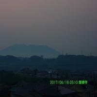 2017年6月18日、朝の桜島