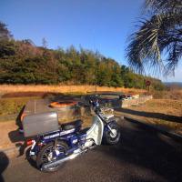 バイクに無線機詰め込み移動運用
