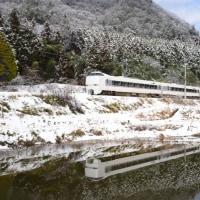 雪の福知山線に「こうのとり」を追って