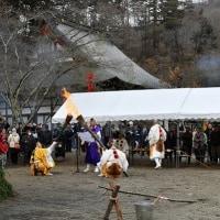 岩殿寺の火渡り/筑北村