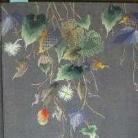 和柄のフランス刺繍