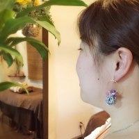 香珠codama〜世界でたった1つのアロマイヤリング〜シルバー フープ編