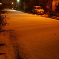 初雪パラパラ