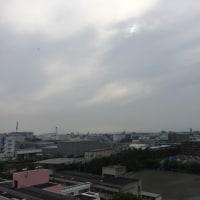 外は梅雨空です。蒸し暑くなっています。