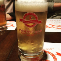 締めはビールで((∩^Д^∩))