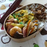 お弁当(海老&じゃが芋のガーリック炒め・シュリンプ風味)
