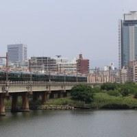 トワイライトエクスプレス瑞風を撮影~上淀川橋梁にて_17/06/24