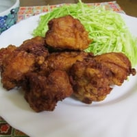 3/25鶏の唐揚げで夕ご飯