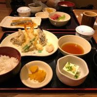 今日のお昼ご飯 天ぷら御膳