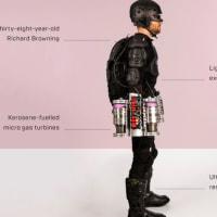 イギリスの発明家、空飛ぶ「アイアンマン」スーツを公開!