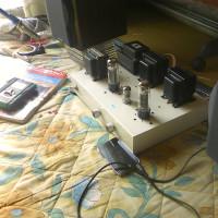 自作真空管アンプコンサート出展用のアンプを用意しました