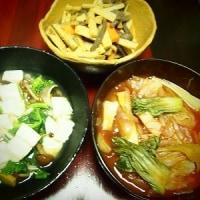菜花と豆腐ときのこのあんかけ
