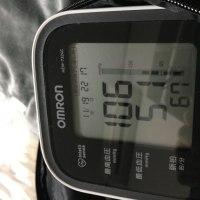 夜の血圧。