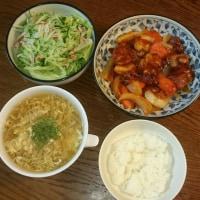 今日の夕食です・・・♪