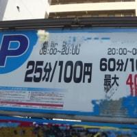 6枚の写真。駐車料金は100円だったので…。