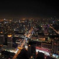 バイヨークスカイから、バンコクの夜景を望む