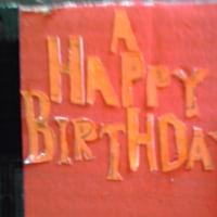 手作り誕生日カード。