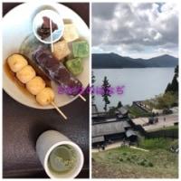 箱根関所と茶屋の団子