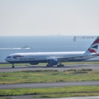 BAのB777-300ER、34Rテイクオフ! (10月15日 羽田空港)