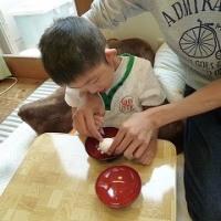 調理実習「カレードリア」