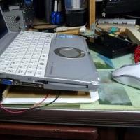 ノートPCの発熱対策・・・なぁーんちゃって