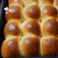 冷蔵庫で発酵させたちぎりパン。美味しかった~。