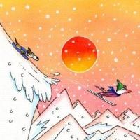 雪降って大阪個展夜の旅