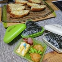 練習試合弁当とチーズトースト