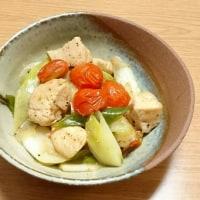 鶏肉とネギ ゆず胡椒炒め