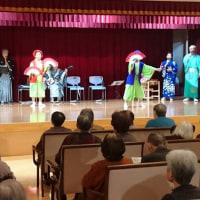NTT民謡民舞サークルがおさらい会で施設を訪問