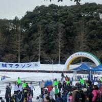 新城マラソン…。