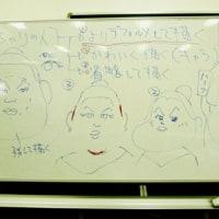 似顔絵教室の課題(マツコDX、高安)