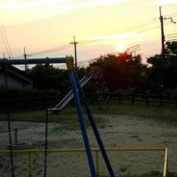 6/22(木)、夕暮・ノルディツク・ICレコーダー・夕焼け・8キロ !