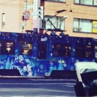 雪ミクの電車