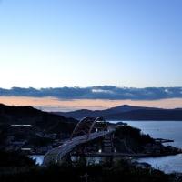 本日の夕暮れの風景(第二音戸大橋)