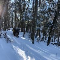 雪の前亀沢山へ。
