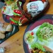 パンアフター ⋆ホットドッグ ⋆昔なつかしきな粉パン ⋆杏仁豆腐 ⋆糸寒天入り棒棒鶏