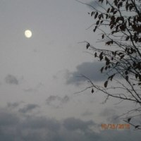お月さまは 刻々 変わる