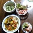 自栽野菜たっぷりの鶏カレー:Cooking around the world #4