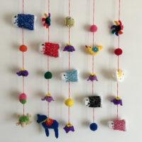 鯉のぼりの吊るし飾り完成❤
