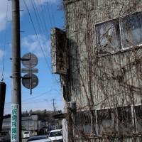 駅前の光景 JR陸羽東線・岩出山駅