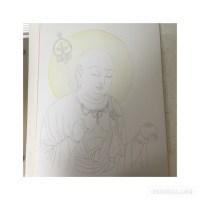 仏画も描きたくて。:教室16回目