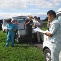 県内一の直播栽培面積!JAみどりので直播栽培現地検討会を開催