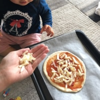 初のピザ作り