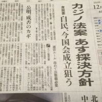 日本に突然カジノ、もう自民党のやりたい放題だ