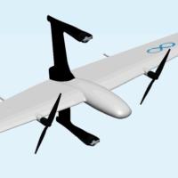 ヘリコプターと飛行機を兼ねるドローン