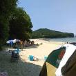 本日は日本の水浴場55選に選ばれている御座白浜海水浴場へ。私は準神様なので、御座白浜上空のみ晴れさせました。同伴者は驚き。